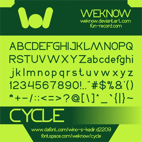CYCLE font by weknow