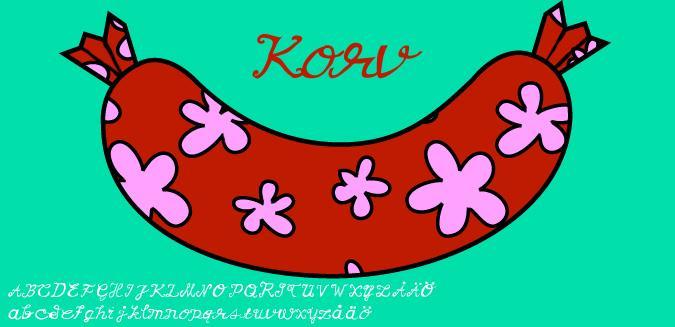 Korv font by Fontomen