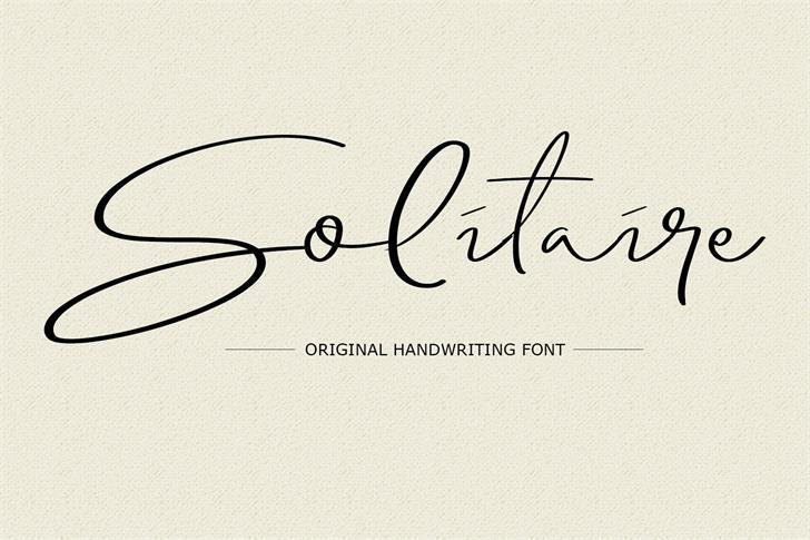 Solitaire font by Gumacreative