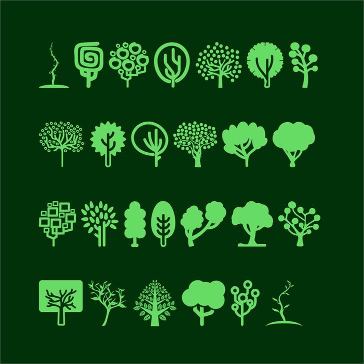 Trees Go 2 font by Jamel E. Robin