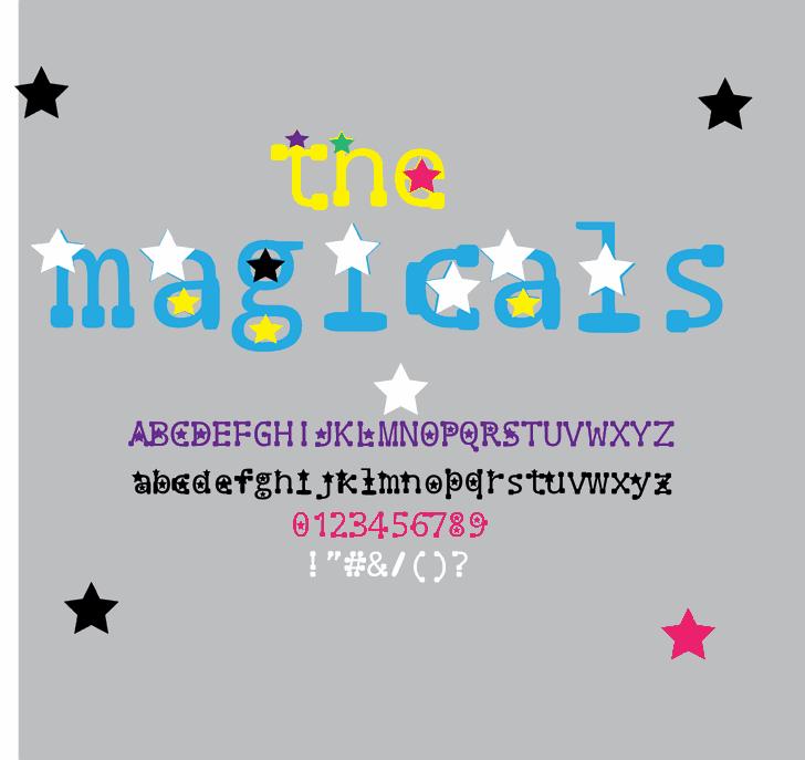 the magicals font by Cé - al