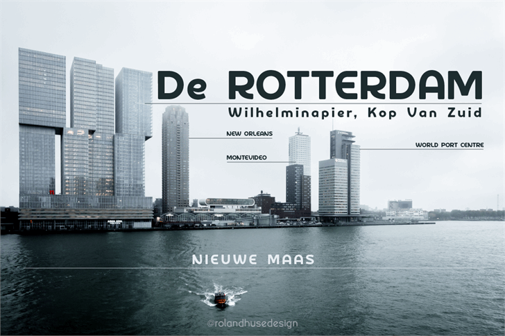 De Rotterdam Demo font by Roland Huse Design