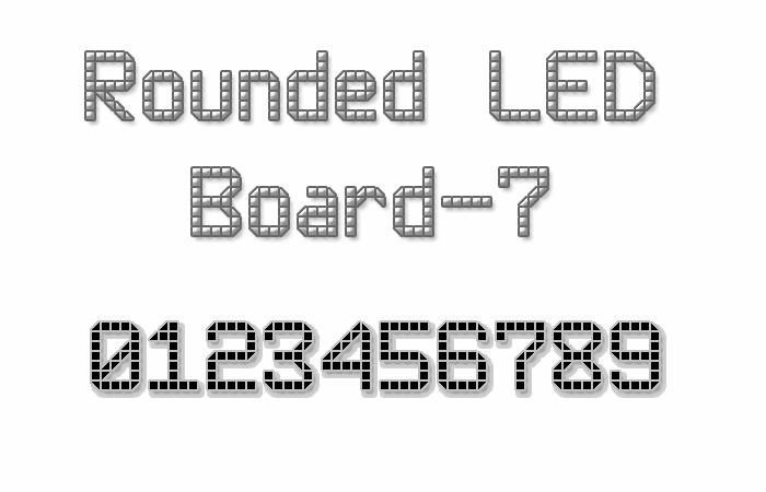 Rounded LED Board-7 font by Style-7