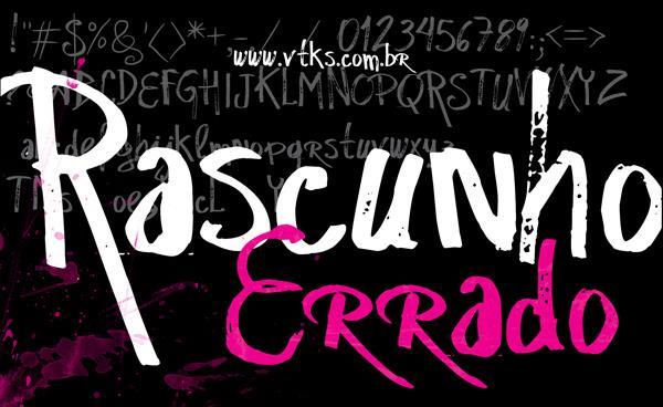 vtks Rascunho  Errado font by VTKS DESIGN