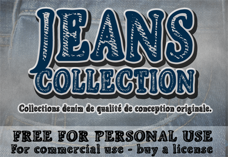 CF Jeans Collection font by CloutierFontes