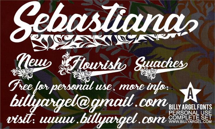 Sebastiana personal use font by Billy Argel