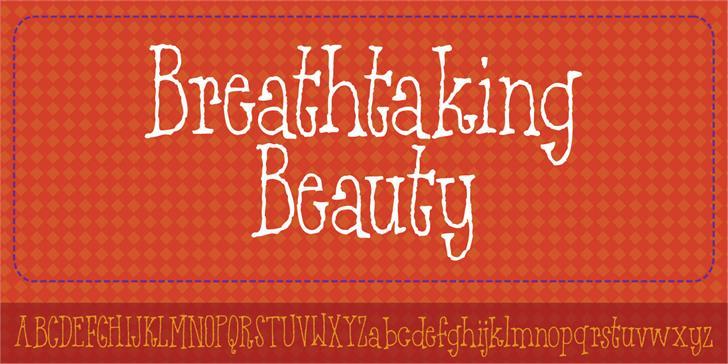 Breathtaking Beauty DEMO font by pizzadude.dk