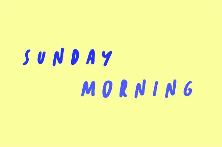 Sunday Morning font by Zansari NZ