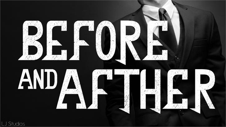 Before and after font by LJ Design Studios