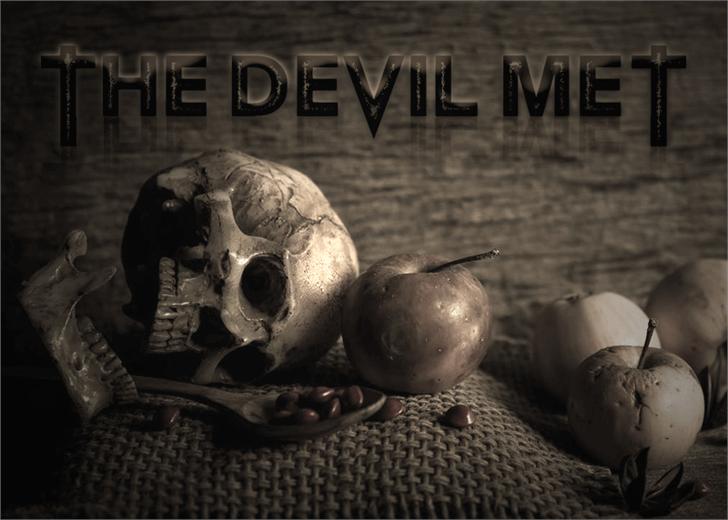 The Devil Net font by Font Monger