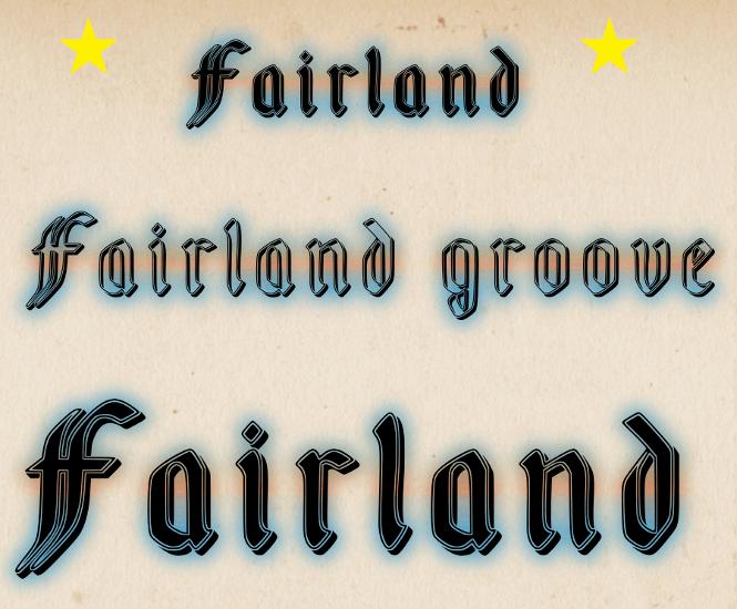 Fairland font by fontden