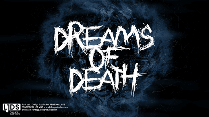 Dreams of Death font by LJ Design Studios