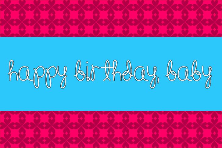 Happy Birthday, Baby font by Misti's Fonts