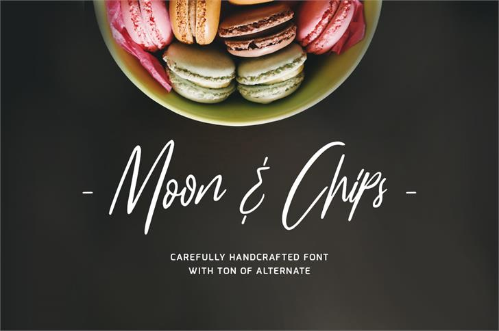 Moon And ChipsDemo font by Lostvoltype Foundry
