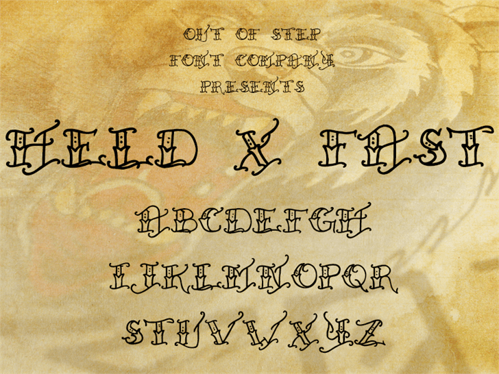 Held x Fast font by Out Of Step Font Company