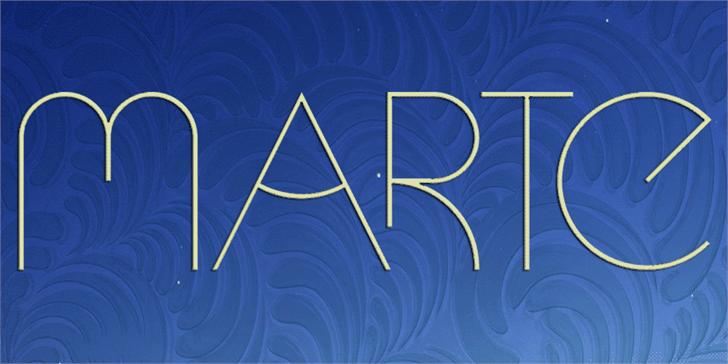 Marte font by Paulo R