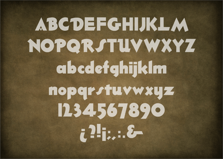 ThickDeco font by Mario Arturo