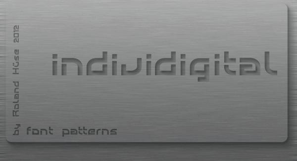 Individigital font by Roland Huse Design