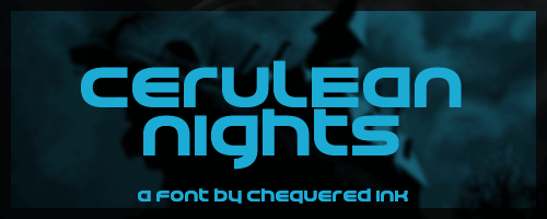 Cerulean Nights font by Chequered Ink