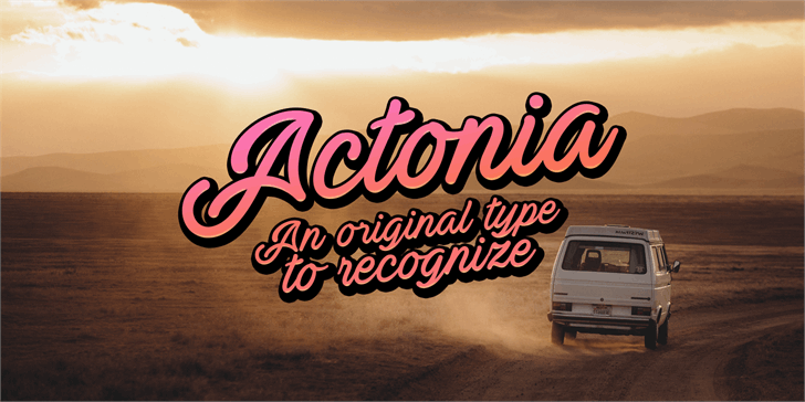 Actonia PERSONAL USE font by Måns Grebäck