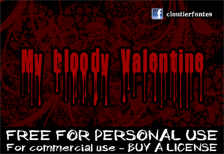 CF My Bloody Valentine font by CloutierFontes