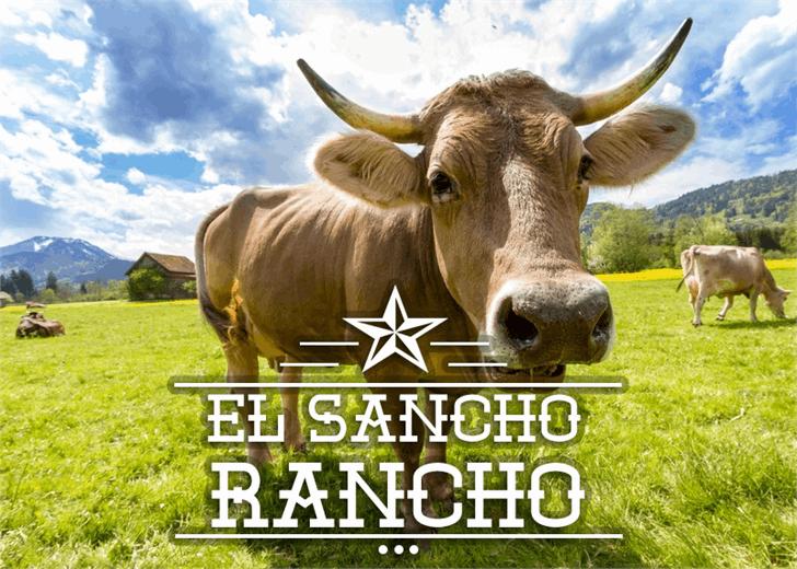 El Sancho Rancho font by Font Monger