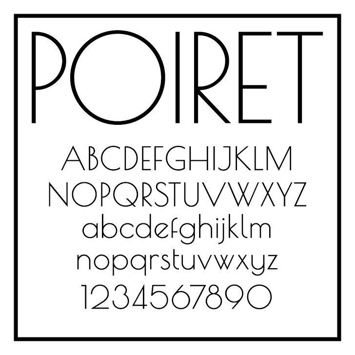 Poiret One font by Denis Masharov