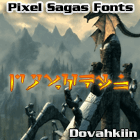 Dovahkiin font by Pixel Sagas