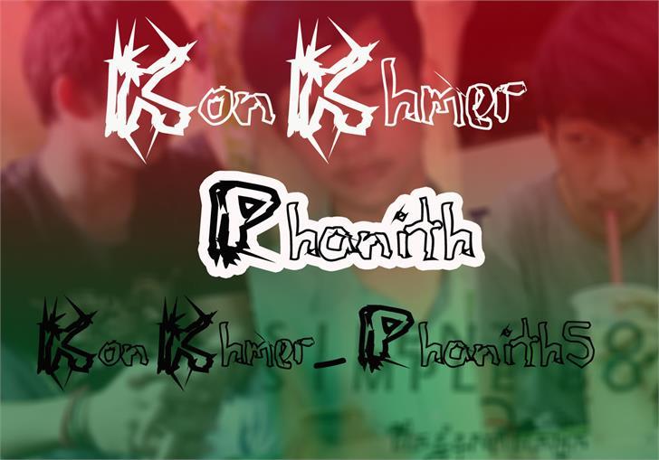 KonKhmer_S-Phanith5 font by Suonmay Sophanith