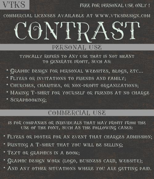 Vtks Contrast font by VTKS DESIGN