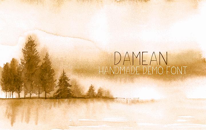 Damean Demo font by Creativetacos