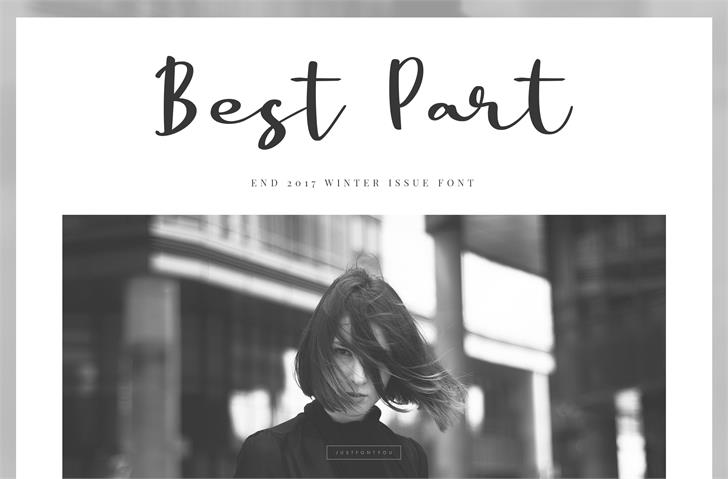 Best Part DEMO font by irwanwismoyo