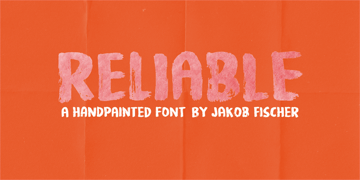 Reliable DEMO font by pizzadude.dk