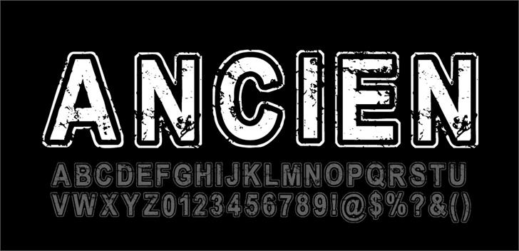 Ancien Regular font by CloutierFontes