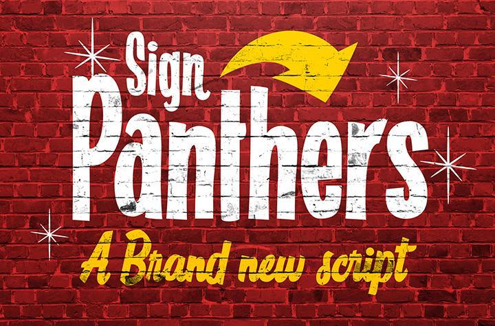 Sign Panthers Script font by Konstantine Studio