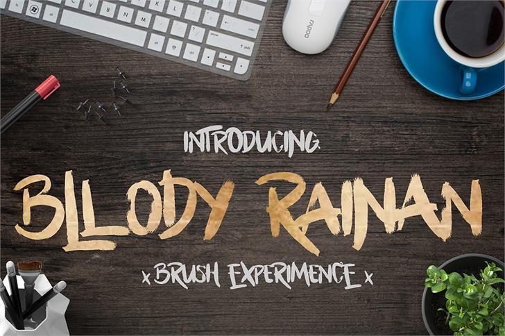 Bllody Rainan font by madeDeduk