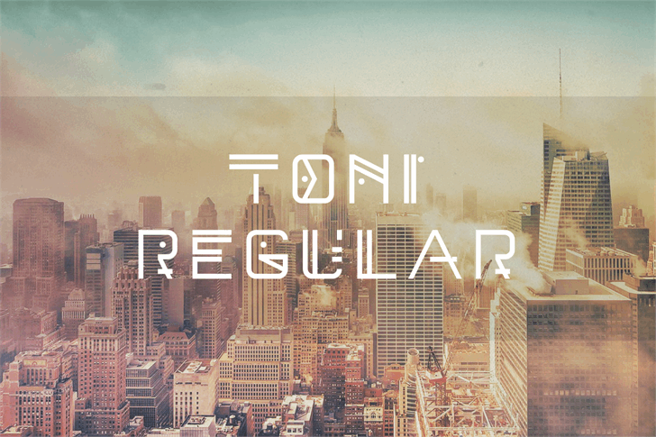 Toni Demo font by Out Of Step Font Company