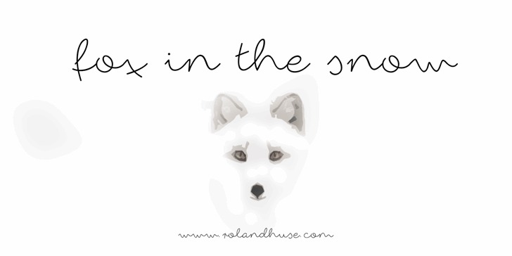 fox in the snow font by Roland Huse Design