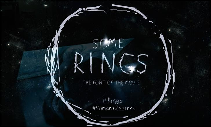 SOME RINGS font by Mawhrt