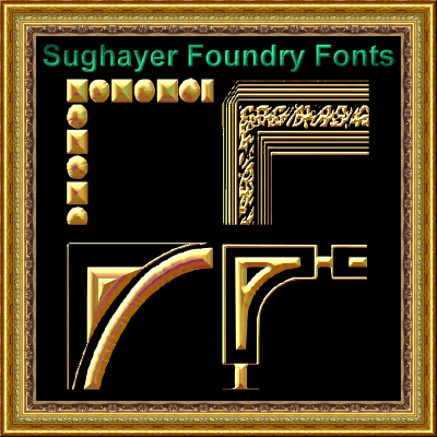 Vintage Decorative Corner_44 font by Sughayer Foundry