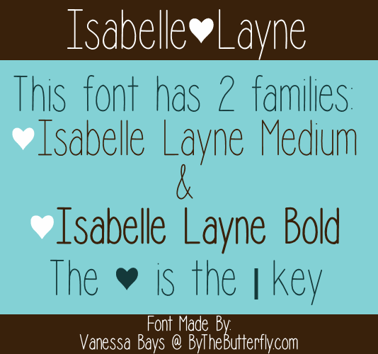 Isabelle Layne font by ByTheButterfly