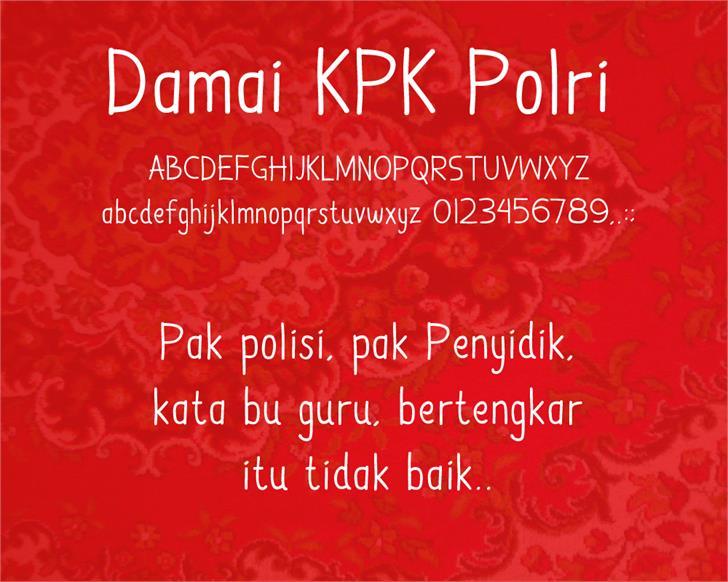 Damai Kpk Polri font by Gunarta