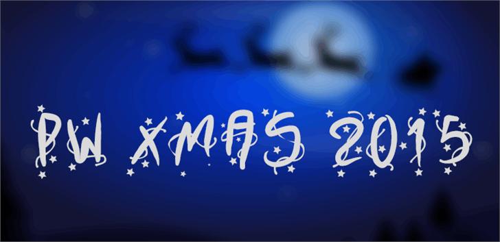 PWXmas2015 font by Peax Webdesign