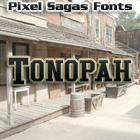 Tonopah font by Pixel Sagas