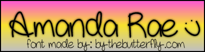 AmandaRae font by ByTheButterfly