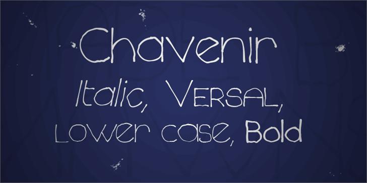 Chavenir font by Måns Grebäck