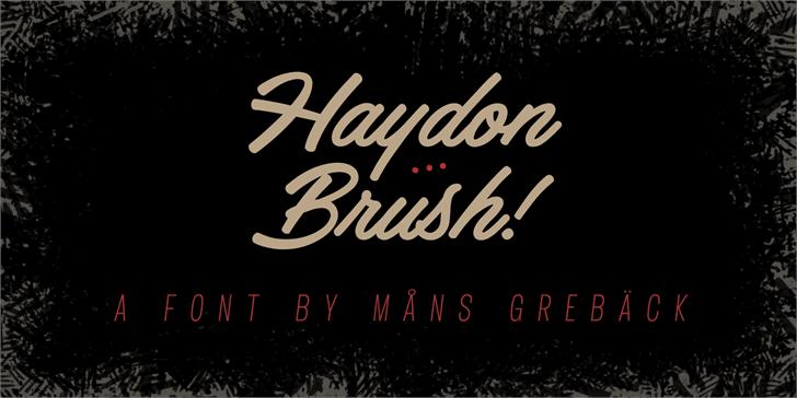 Haydon Brush PERSONAL USE font by Måns Grebäck