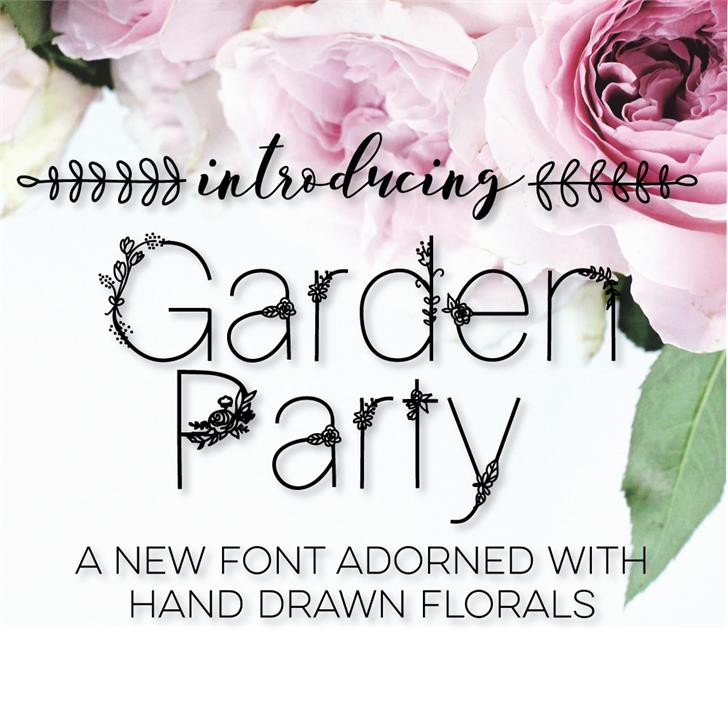 GardenParty font by SarahTaylorDesigns