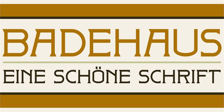 DK Badehaus font by David Kerkhoff