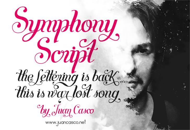 Symphony Script - personal use font by Juan Casco